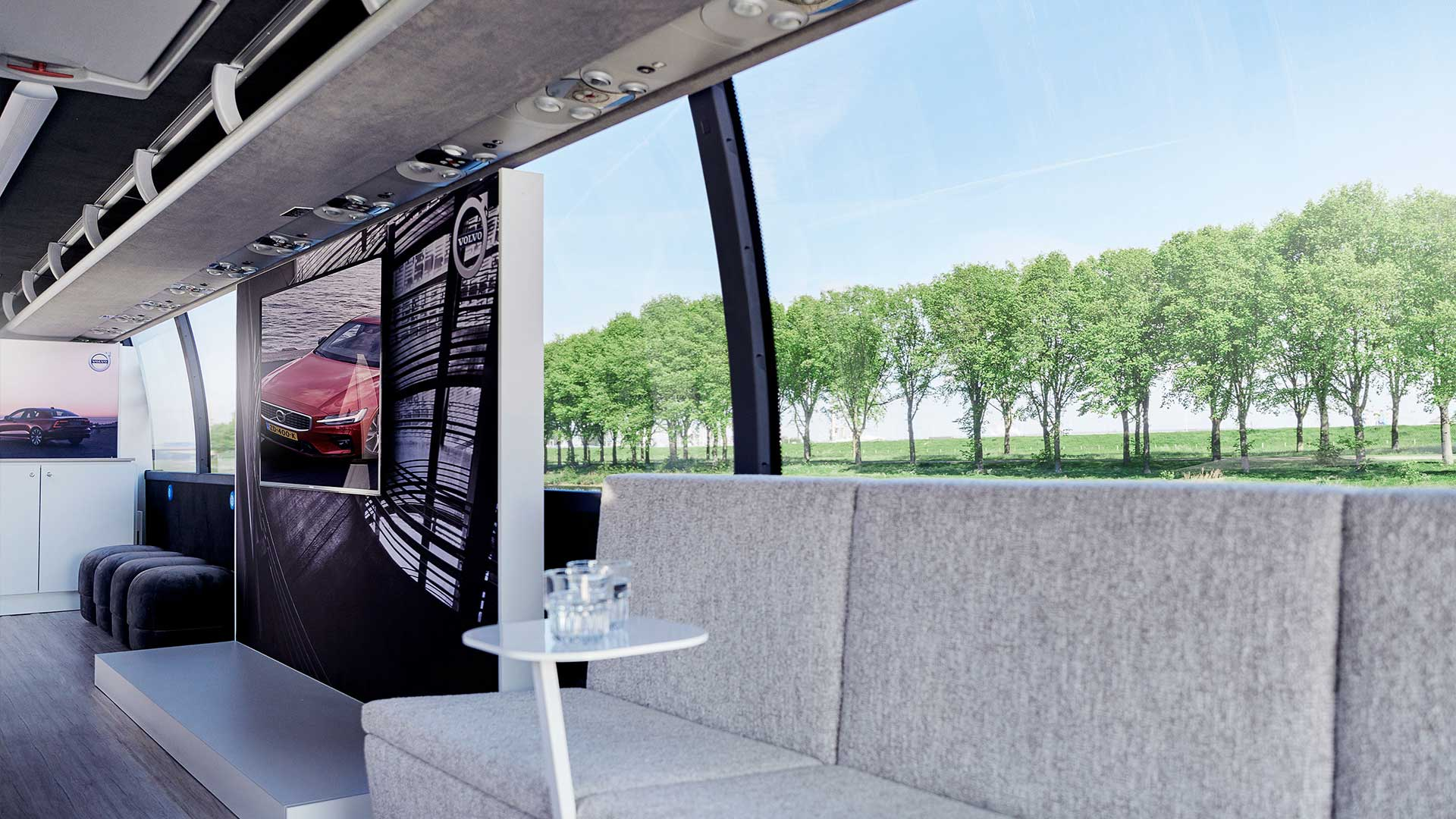 De Volvo S60 pop-up showroom