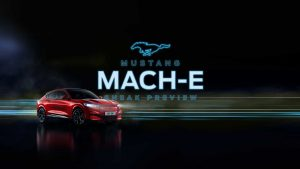 Productpresentatie Ford Mustang Mach-e.